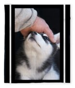 Siberian Husky Puppies Mans Best Friend Fleece Blanket
