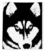 Siberian Husky Fleece Blanket