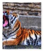 Siberian Tiger Nap Time Fleece Blanket