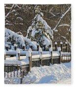 Side Cut Park Winter Wonderland Fleece Blanket