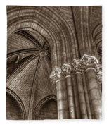 Side Vault In Notre Dame Fleece Blanket