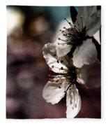 Side View Of White Flowers Fleece Blanket