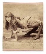 Sideshow Camel Girl, 1886 Fleece Blanket