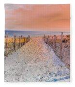 Sideside Heights Sunset Fleece Blanket