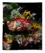 Sidewalk Flower Shop Fleece Blanket