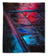 Sidewalk Reflections Fleece Blanket