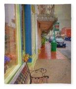 Sidewalk Shot Weston Missouri Fleece Blanket
