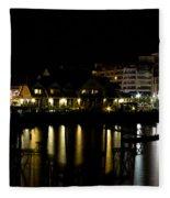 Sidney Bc At Night Fleece Blanket