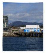 Sidney Harbour On Vancouver Island Fleece Blanket