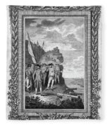 Siege Of Gibraltar, 1782 Fleece Blanket