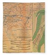 Siege Of Vicksburg 1863 Fleece Blanket