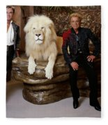 Siegfried And Roy Fleece Blanket