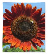 Sienna Sunflower Fleece Blanket