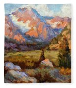 Sierra Nevada Mountains Fleece Blanket