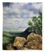 Sierra San Jose From Montezuma Pass Fleece Blanket