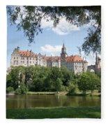 Sigmaringen Castle 4 Fleece Blanket