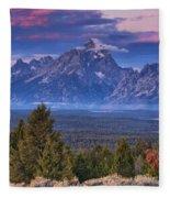Signal Mountain Sunrise Fleece Blanket