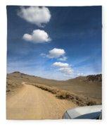 Signals ... Along The Bristlecone Pine Highway, White Mountains, California.  Fleece Blanket