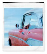 Signed Chevy Belair At The Beach Mini Fleece Blanket