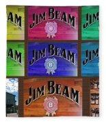 Signs Of Jim Beam Fleece Blanket