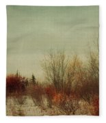 Signs Of Winter Fleece Blanket