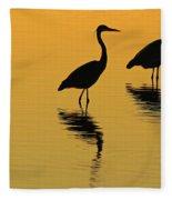 Silent Sunset Fleece Blanket