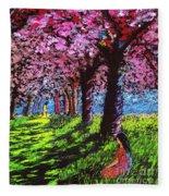 Contemporary Jesus Painting, Silent Communion Fleece Blanket
