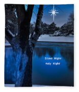 Silent Night Fleece Blanket