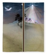 Silent Night - Gently Cross Your Eyes And Focus On The Middle Image Fleece Blanket