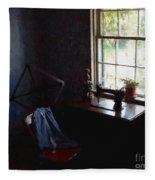 Silent Sewing Room Fleece Blanket