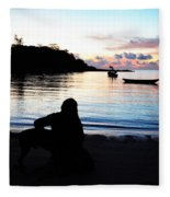 Silhouette At Sunrise Fleece Blanket