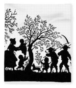 Silhouette Family Life Fleece Blanket