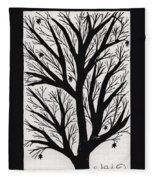 Silhouette Maple Fleece Blanket