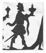 Silhouette Of Three Kings Fleece Blanket