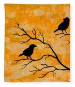 Silhouette Orange Fleece Blanket