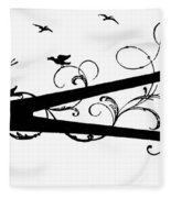 Silhouette Scissors Fleece Blanket