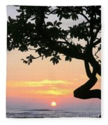 Silhouette Sunrise Fleece Blanket