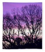 Silhouettes Against Pink Skies Fleece Blanket