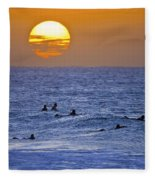 Silhouettes And Gold Fleece Blanket