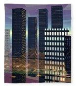 Silicon City Fleece Blanket