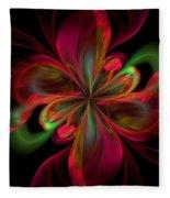 Silk Butterfly Abstract Fleece Blanket