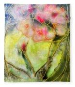 Silky Almond Flower Fleece Blanket