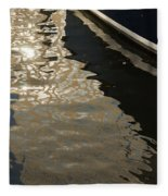 Silky Swirls And Zigzags - A Waterfront Abstract Fleece Blanket