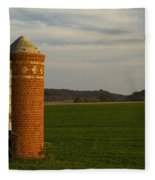 Silo Old Brick 3 Fleece Blanket