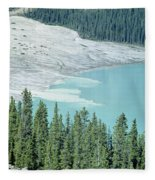 1m3531-silt Entering Peyto Lake Fleece Blanket