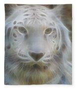 Silver-7963-fractal Fleece Blanket