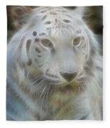 Silver-7988-fractal Fleece Blanket