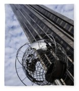 Silver And Blue Planet Earth Fleece Blanket