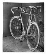 Silver Bike Bw Fleece Blanket