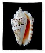 Silver Conch Seashell Fleece Blanket